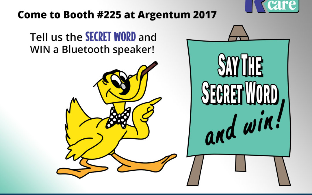 RCare Unveils the Secret Word (and Hundreds of Prizes) at Argentum in celebration of GeoPendant Launch