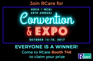 Everyone is a Winner with RCare at AHCA/NCAL 2017